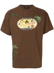 Creatures Of The Wind Hollywood Print T Shirt Cotton Brown