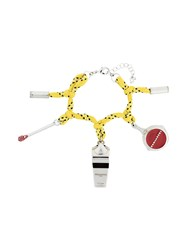Dsquared2 Camping Cord Charm Bracelet Yellow And Orange