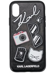Karl Lagerfeld 3D Rubber Pins Iphone X Case Black