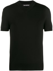 Neil Barrett Short Sleeved V Neck Jumper 60