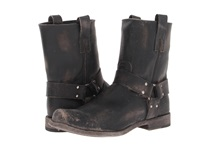 Frye Smith Harness Black Stone Wash Men's Pull On Boots