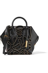 Stella Mccartney Boston Zip Embellished Faux Leather Tote Black