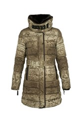 Desigual Alethea Padded Overcoat Brown