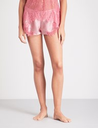 Nk Imode Happy Hour Silk Satin Shorts Rosewood