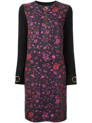Class Roberto Cavalli Contrast Back Shift Dress Black