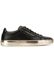 Philipp Plein Contrast Low Top Sneakers Black