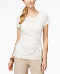 Msk Glitter Detail Side Tie Top