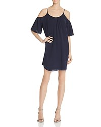 French Connection Polly Plains Cold Shoulder Dress Nocturnal