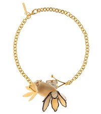 Marni Crystal Necklace Gold