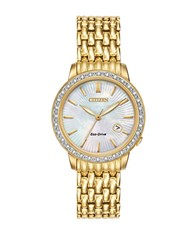 Citizen Eco Drive Diamond Accented Goldtone Stainless Steel Watch