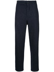 Forme D'expression Pinstripe Trousers Black