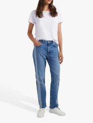 French Connection Jilly Embellished Side Strip Straight Jeans Blue