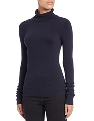 French Connection Bambi Turtleneck Top Utility Blue