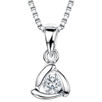 Jools By Jenny Brown Sterling Silver Cubic Zirconia Triangle Pendant Silver