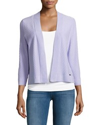 Ivanka Trump Diamond Stitched Cardigan Sweater Purple