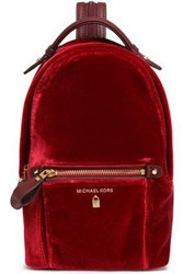 Michael Michael Kors Woman Velvet Backpack Claret