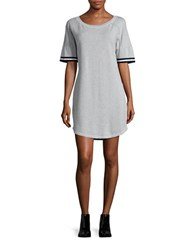 Splendid Short Sleeve Varisty T Shirt Dress Heather Grey