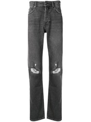 Versace Jeans Ripped Loose Jeans Grey