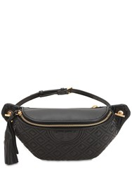 Tory Burch Embossed Nappa Leather Belt Bag Black