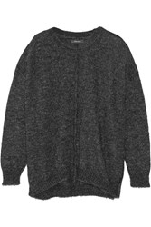 Isabel Marant Tam Oversized Knitted Sweater Gray