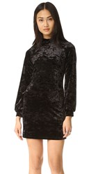 Only Hearts Club Velour Mini Dress Black