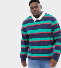 Another Influence Plus Rugby Long Sleeve Top Navy