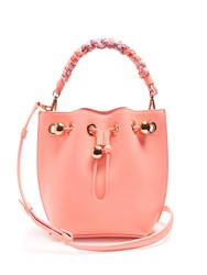 Sophia Webster Romy Mini Leather Bucket Bag Pink