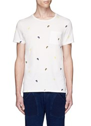 Scotch And Soda Paisley Print T Shirt White