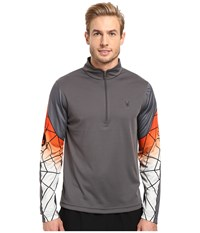 Spyder Webstrong Dry W.E.B. T Neck Top Polar Rage Cirrus Men's Long Sleeve Pullover Gray