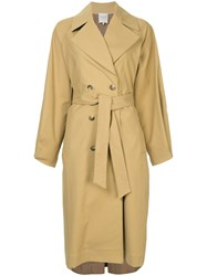 Sea Button Front Trench Brown