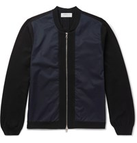 Tomorrowland Slim Fit Panelled Shell Bomber Jacket Black