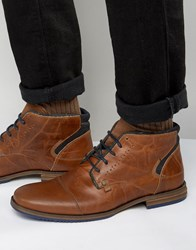 Dune Choppa Leather Boots Tan