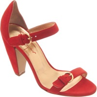 Walter Steiger Double Strap Mary Jane Sandal Red