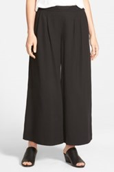 Eileen Fisher Wide Leg Ankle Pant Black