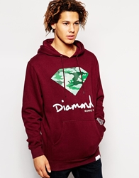 Diamond Supply Co. Diamond Supply Brilliant Camo Hoodie Red