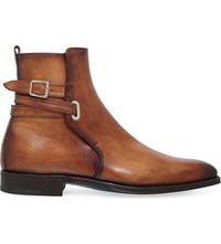 Sutor Mantellassi Orthos Buckled Leather Boots Tan