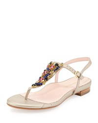 Ibsen Jeweled Thong Sandal Soft Gold Taryn Rose