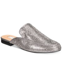 Inc International Concepts Anna Sui Loves Gannie Mules Created For Macy's Women's Shoes Pewter Embellished
