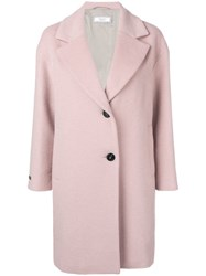 Peserico Single Breasted Coat Pink