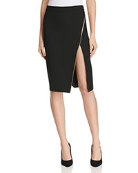 Mason Zip Slit Pencil Skirt Black
