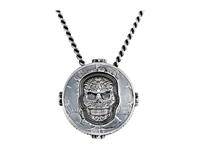 King Baby Studio Liberty Half Dollar Pendant Necklace W Carved Baroque Skull