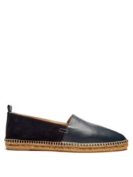 Castaner Nando Suede And Leather Espadrilles Navy