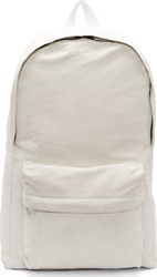 Ann Demeulemeester White Suede Large Backpack
