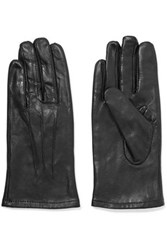 Y 3 Adidas Faux Leather Gloves Black