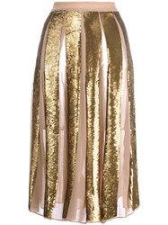 Manoush Golden Pailettes Skirt Metallic
