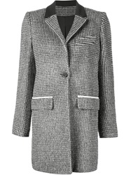 Paco Rabanne Houndstooth Coat Black