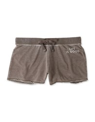 Life Is Good Burnout French Terry Shorts Shale Brown