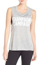 Women's Private Party 'Champagne Campaign' Graphic Muscle Tank