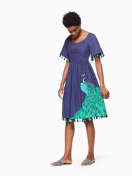 Kate Spade Plume Poplin Dress Deep Sea