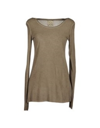 Douuod Long Sleeve T Shirts Khaki